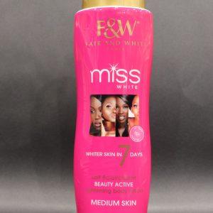 Fair & White Miss White Lightening body lotion